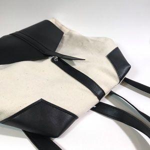 Deux Lux Vegan Backpack 🎒 Black & Natural Canvas